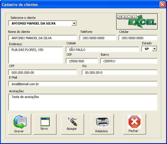 Planilha de Controle de Clientes ( Foto: Divulgação)
