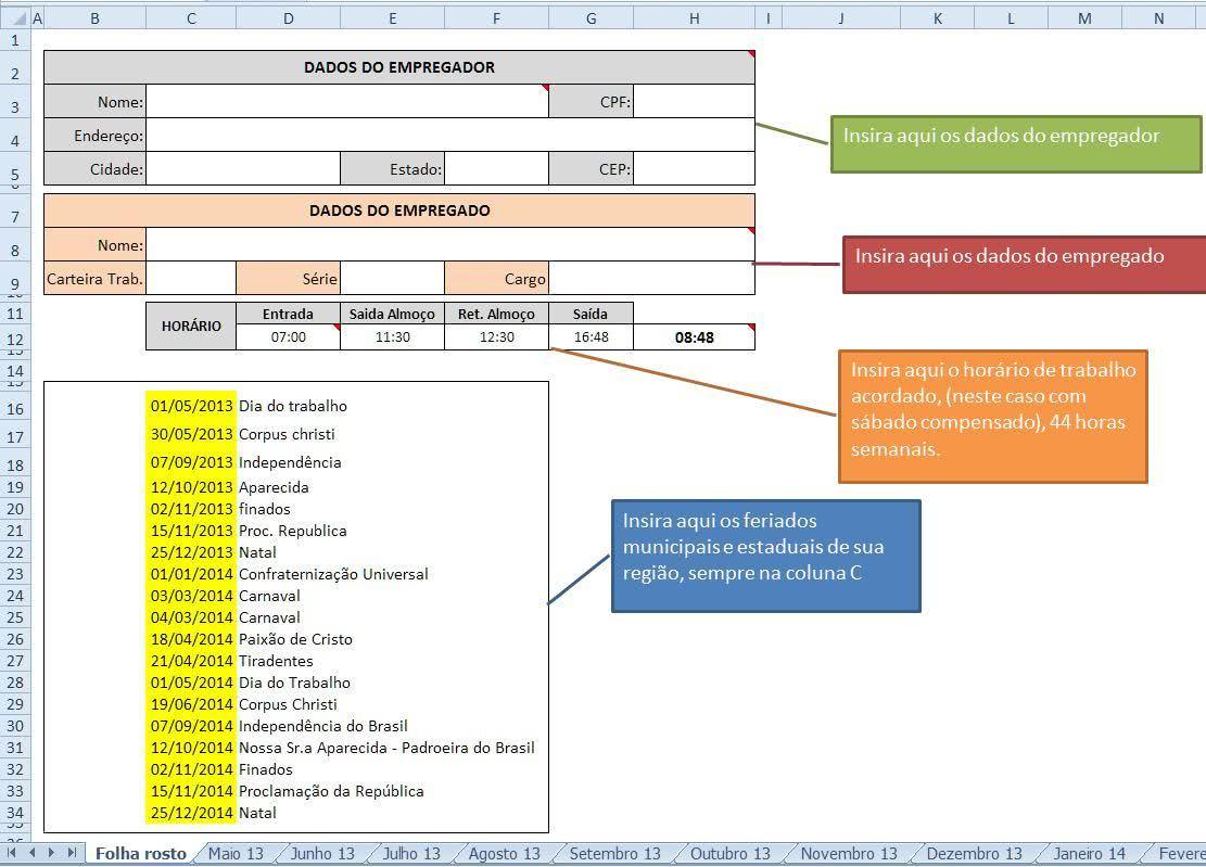 Planilha de Dados