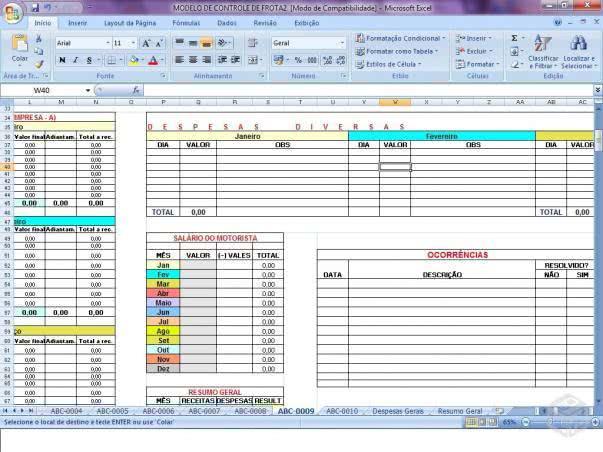 Planilha de Faturamento 4