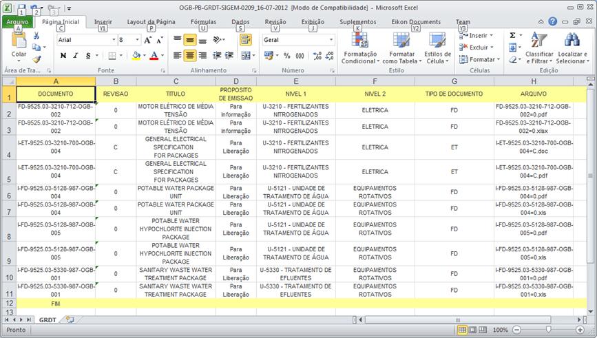 Planilha de Controle de Documentos 1