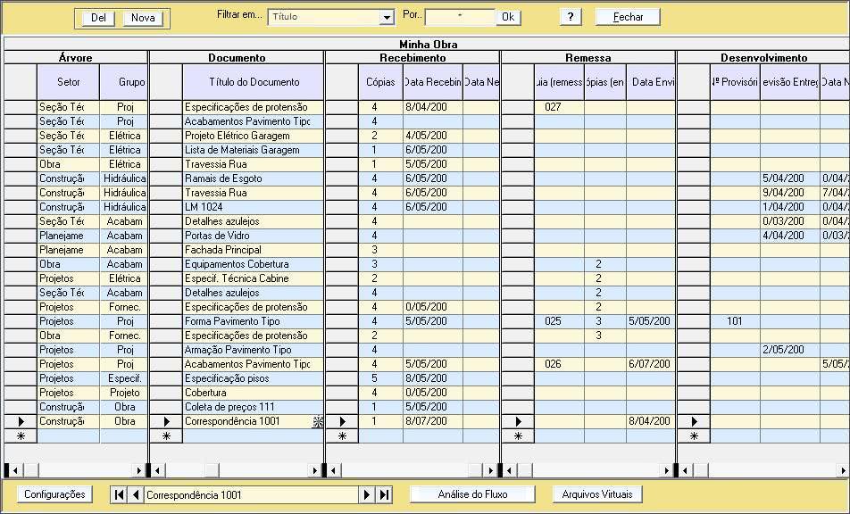Planilha de Controle de Documentos 2