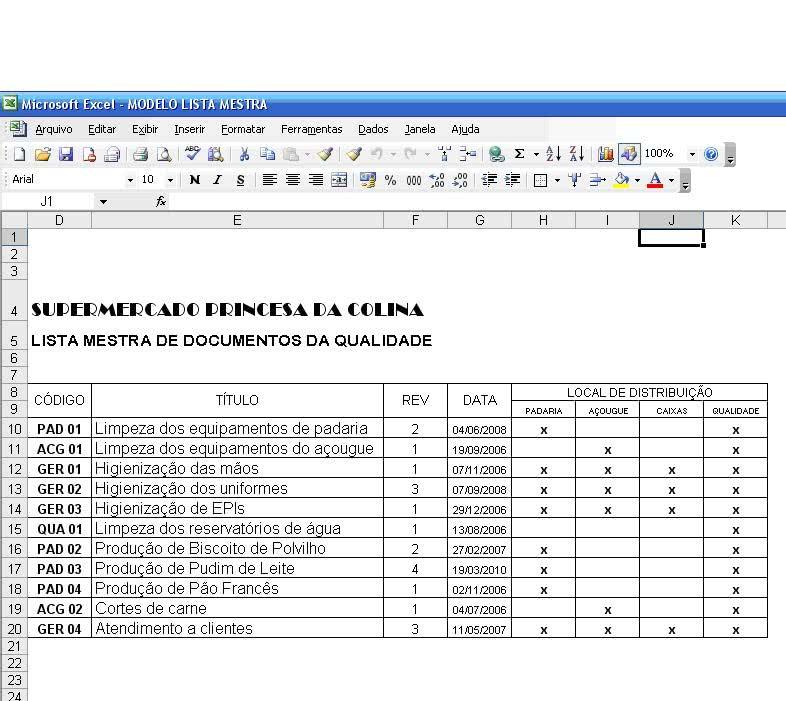 Planilha de Controle de Documentos 3