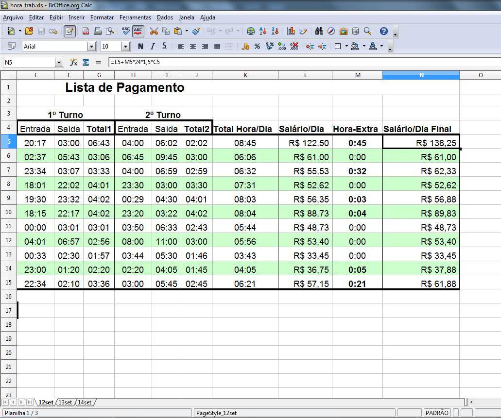 Planilha de Controle de Horas Trabalhadas 3