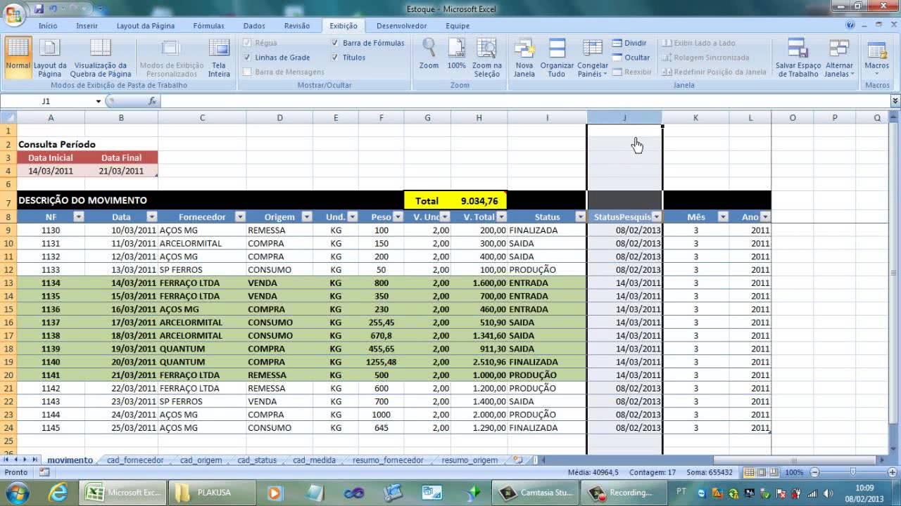 Planilha de Controle de Notas Fiscais 1