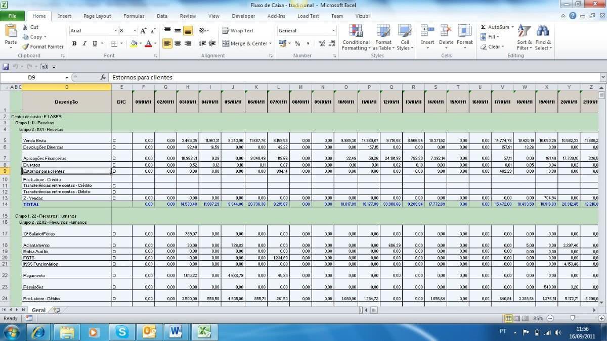 Planilha de Controle de Notas Fiscais 2