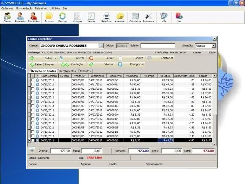 Planilha de Controle de Notas Fiscais 3