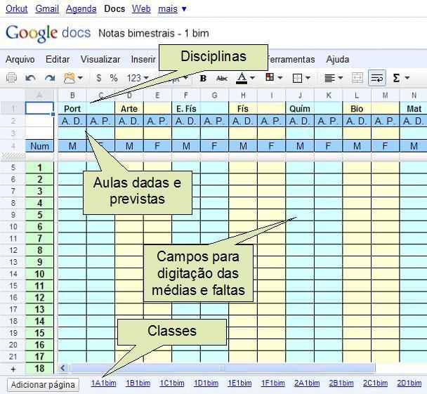 Planilha de Controle de Notas de Alunos 6